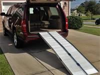 Hliníková rampa pre vozíčkara - 3x zložiteľná s menším uhlom nájazdu